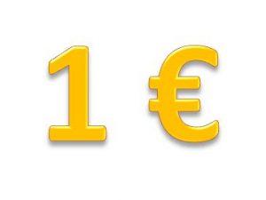 Prekės po 1 Eur